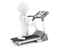 3d Person on Treadmill Machine Royalty Free Stock Photos