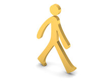 3D person walking Royalty Free Stock Images