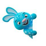 3D personaje de dibujos animados, conejito de pascua Fotografía de archivo libre de regalías
