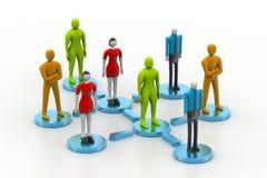 3d personen in sociaal netwerk Royalty-vrije Stock Afbeelding