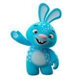 3D personnage de dessin animé, lapin de Pâques Image stock