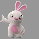 3D personnage de dessin animé, lapin de Pâques Photo stock
