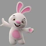 3D personnage de dessin animé, lapin de Pâques Photographie stock