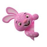 3D personnage de dessin animé, lapin de Pâques Photo libre de droits