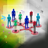 3d persons in social network. 3d image. 3d persons in social network. 3d image in color background Stock Photography
