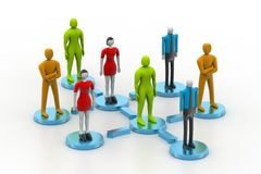 3d persons in social network Royalty Free Stock Image
