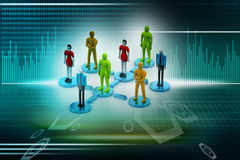 3d persons in social network Stock Photos