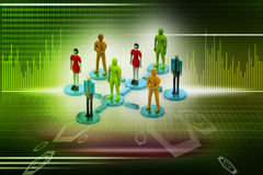 3d persons in social network Stock Photography