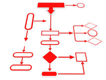 3d perspective view of organizational chart Stock Images