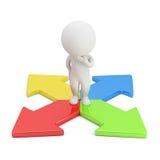 3d petites personnes - choix de la direction Images stock