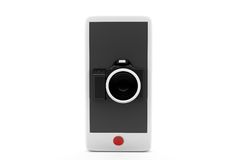 3d phone camera concept Stock Photography