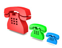 3D phone icon Royalty Free Stock Photo