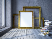3d photo frame Royalty Free Stock Image