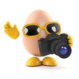 3d Photographer egg Stock Photography