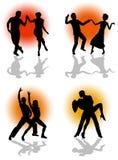 3d piękni dancingowi ilustracyjni ludzie trzy bardzo royalty ilustracja