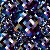 3d piłek szklany fiołkowy ciemny tło Krystaliczny shimmer abstrakta wzór ilustracja wektor