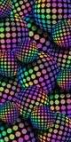 3d piłek tęczy holograma mozaiki tło Lily żółtej zieleni błękit iryzuje gradientowego sfera wzór ilustracja wektor