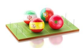3d piłki nożnej światowy turniej 2018 Fotografia Stock