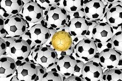 3D piłki nożnej balls/futbol - tło Obraz Stock