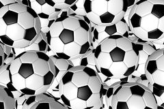 3D piłki nożnej balls/futbol - tło Obrazy Stock