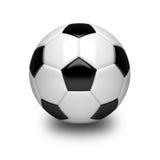 3D piłki nożnej piłka na bielu Obrazy Royalty Free