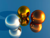 3D piłki Zdjęcie Royalty Free