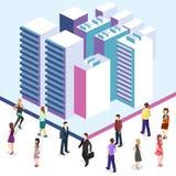3D piano isometrico ha isolato il quarto tridimensionale della città dell'estate della città Fotografia Stock Libera da Diritti