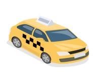3D piano isometrico ha isolato il servizio di trasporto del taxi di concetto illustrazione vettoriale
