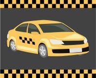 3D piano isometrico ha isolato il servizio di trasporto del taxi di concetto royalty illustrazione gratis