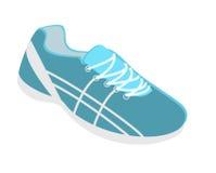 3D piano isometrico ha isolato le scarpe da tennis piane dell'illustrazione che corrono, camminando, comperando Immagini Stock Libere da Diritti