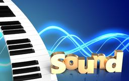 3d piano keyboard blank Royalty Free Stock Image