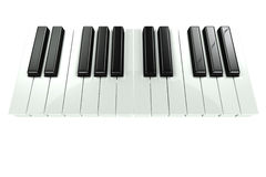 3d Piano keyboard Royalty Free Stock Photos