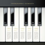 3d piano keys infographic elements Stock Photography