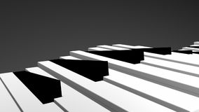3d Piano keys stock video footage
