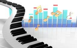 3d piano keys spectrum Royalty Free Stock Image