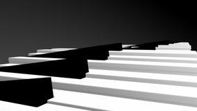 3d Pianosleutels vector illustratie