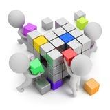 3d piccola gente - concetto di creare Immagine Stock