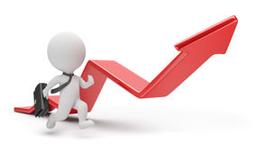 3d piccola gente - inseguimento del profitto illustrazione di stock