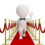 3d piccola gente - tappeto rosso royalty illustrazione gratis