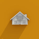 3D Pictogram van het Huis Stock Foto