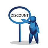 3d pictogram with word Discount Stock Photos