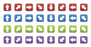 3D pictogrammen met pijlen Royalty-vrije Stock Afbeelding