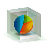 3D Pie Chart Cube Stock Images