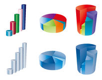 3d pie chart. Finance elemtns Royalty Free Stock Photo