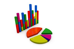 3d pie chart graph Stock Photography