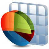 3d Pie Chart Grid Stock Photography