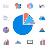 3D pie chart icon. Detailed set of Charts & Diagramms icons. Premium quality graphic design sign. One of the collection icons for. 3D pie chart icon. Detailed Royalty Free Stock Images