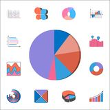 3D pie chart icon. Detailed set of Charts & Diagramms icons. Premium quality graphic design sign. One of the collection icons for. 3D pie chart icon. Detailed Royalty Free Stock Photo