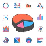 3D pie chart icon. Detailed set of Charts & Diagramms icons. Premium quality graphic design sign. One of the collection icons for. 3D pie chart icon. Detailed Stock Image