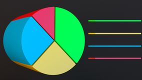 3D pie chart vector illustration